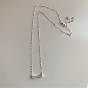 The 2 Bandits Silver Bar Necklace